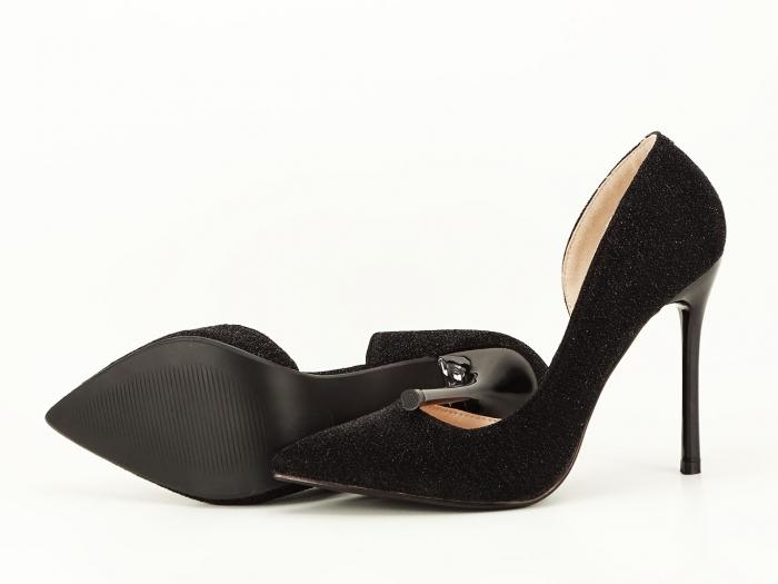 Pantofi dama negri stiletto decupati lateral Dream 3