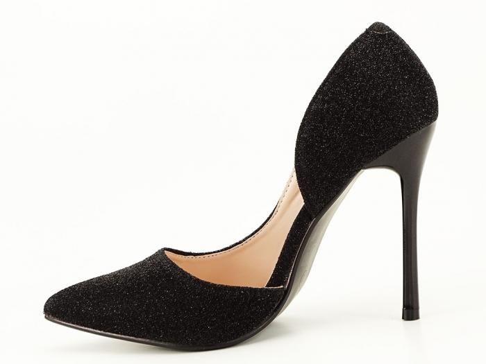 Pantofi dama negri stiletto decupati lateral Dream 2