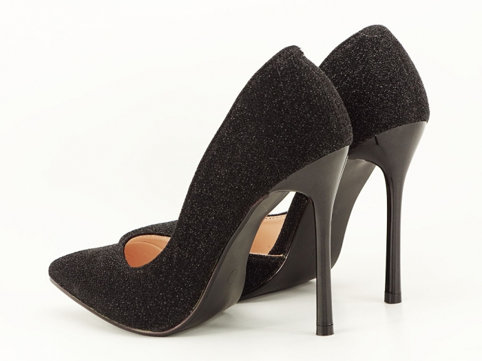 Pantofi dama negri stiletto decupati lateral Dream 6