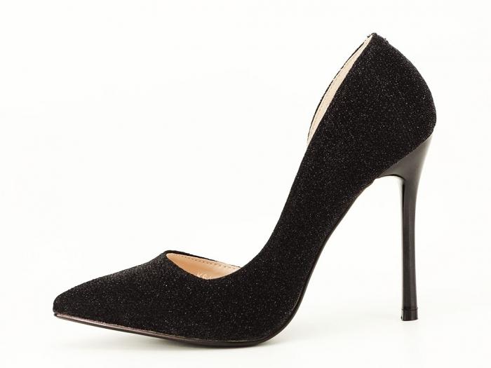 Pantofi dama negri stiletto decupati lateral Dream 1
