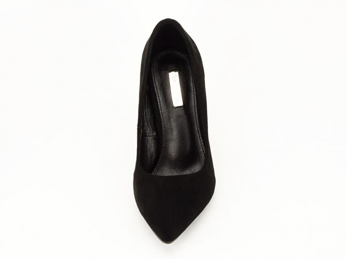 Pantofi negri eleganti cu toc gros Alina 7