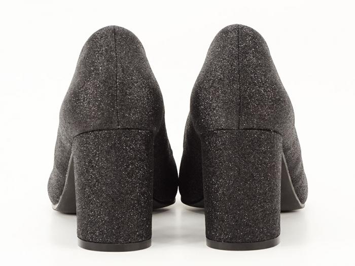 Pantofi negri eleganti cu toc gros Cerise 3
