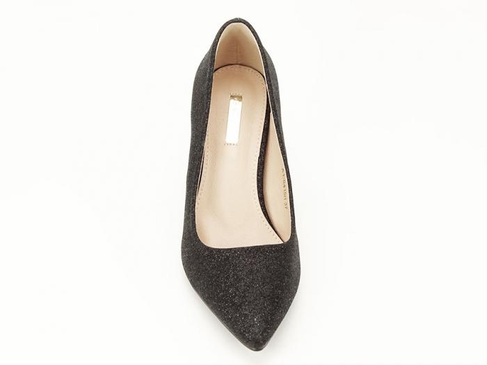Pantofi negri eleganti cu toc gros Cerise 5