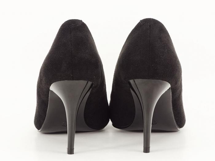 Pantofi negri sidefati din velur Freya 5