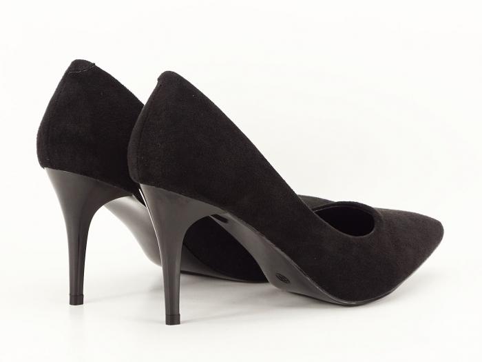 Pantofi negri sidefati din velur Freya 4