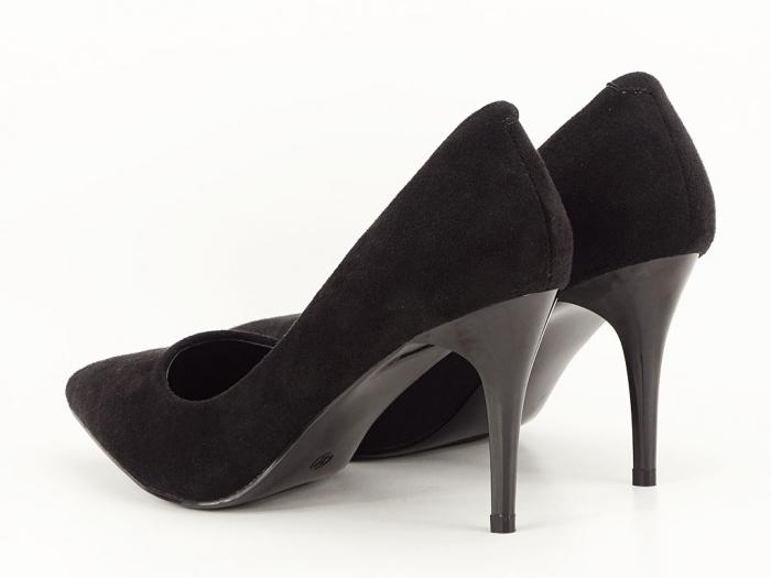 Pantofi negri sidefati din velur Freya 6