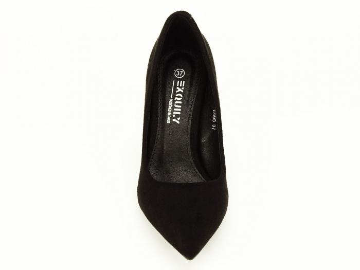 Pantofi negri sidefati din velur Freya 7
