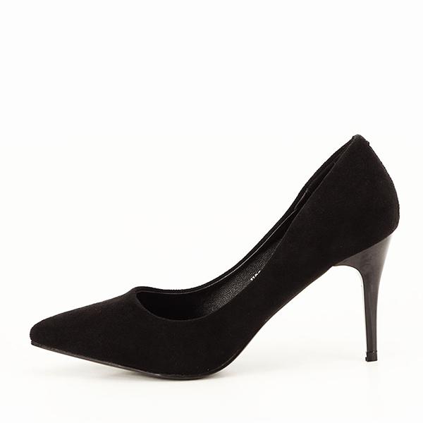 Pantofi negri sidefati din velur Freya [0]