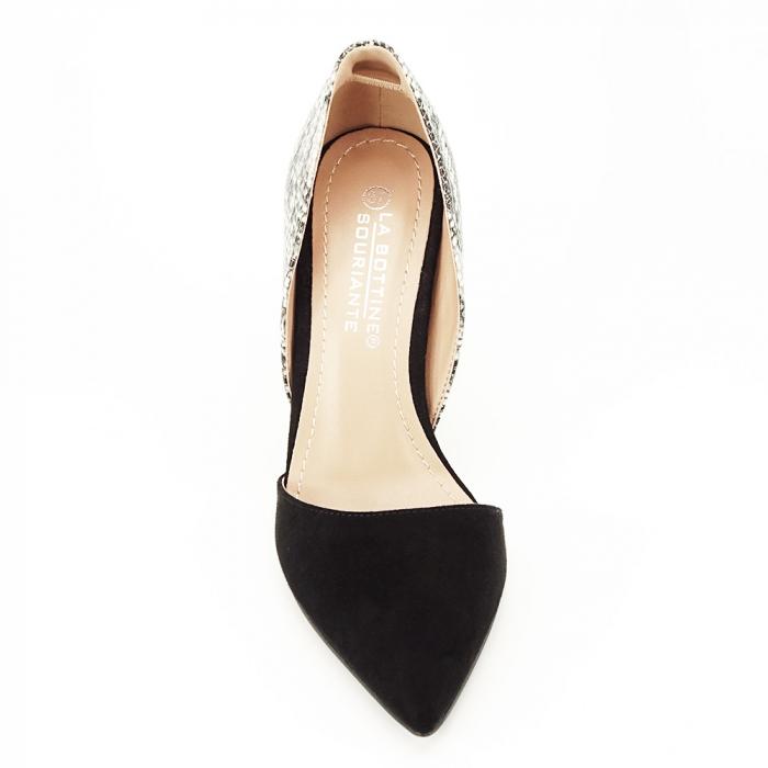 Pantofi negri decupati lateral Lori [7]