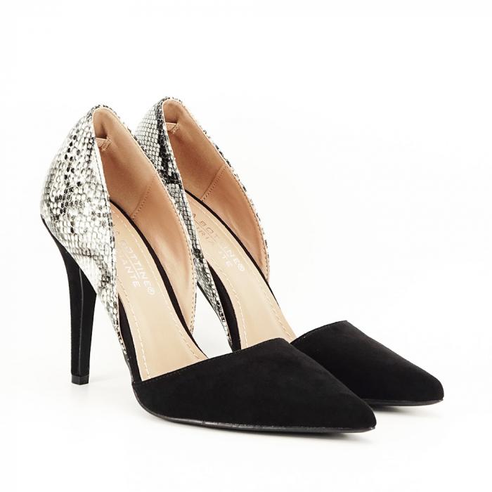 Pantofi negri decupati lateral Lori [3]