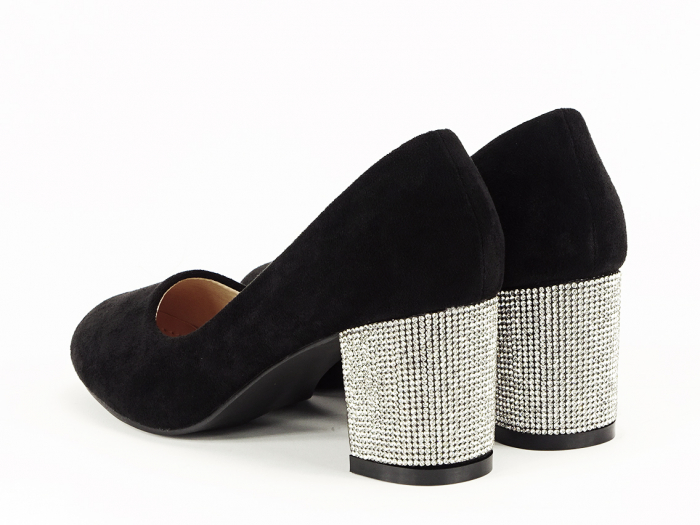 Pantofi negri eleganti cu toc comod Brenda [5]