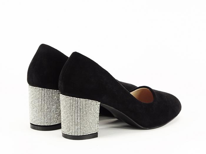 Pantofi negri eleganti cu toc comod Brenda [7]