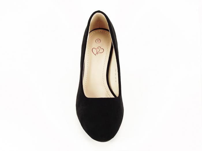 Pantofi negri eleganti cu toc comod Brenda [2]