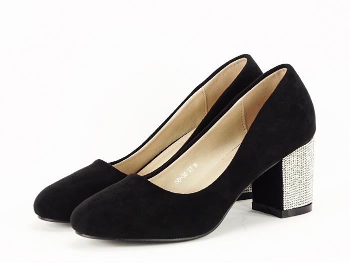Pantofi negri eleganti cu toc comod Brenda [1]
