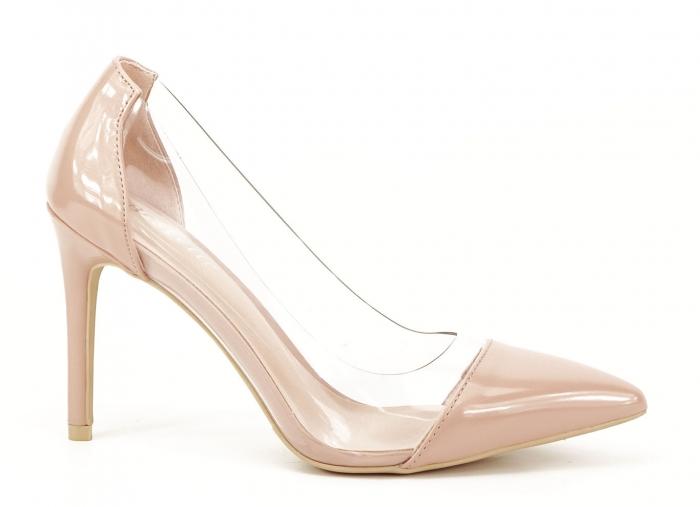 Pantofi stiletto nude cu silicon lateral Athena 0