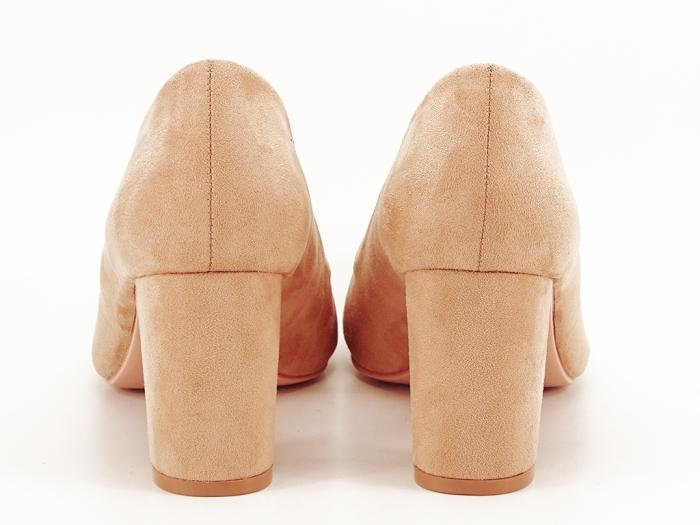 Pantofi nude cu toc gros Britney 5