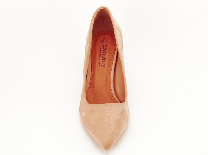 Pantofi nude cu toc gros Britney 4