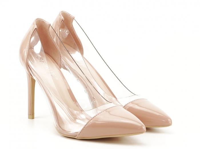 Pantofi stiletto nude cu silicon lateral Athena 4