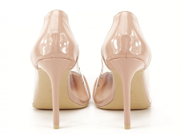 Pantofi stiletto nude cu silicon lateral Athena 1