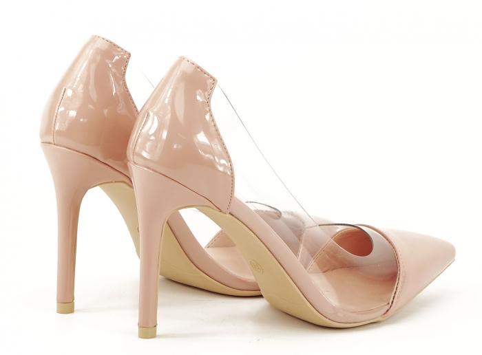 Pantofi stiletto nude cu silicon lateral Athena 3