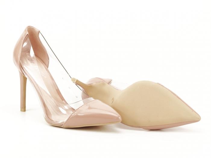 Pantofi stiletto nude cu silicon lateral Athena 2