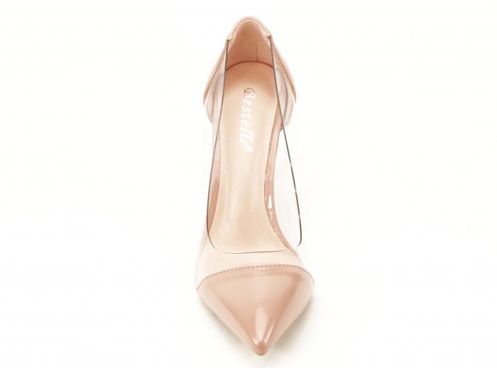 Pantofi stiletto nude cu silicon lateral Athena 5