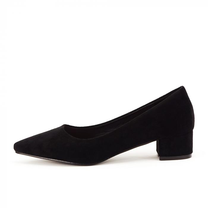 Pantofi negri cu toc mic Elisa 0