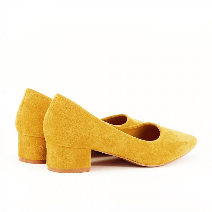 Pantofi galbeni cu toc mic Elisa [4]