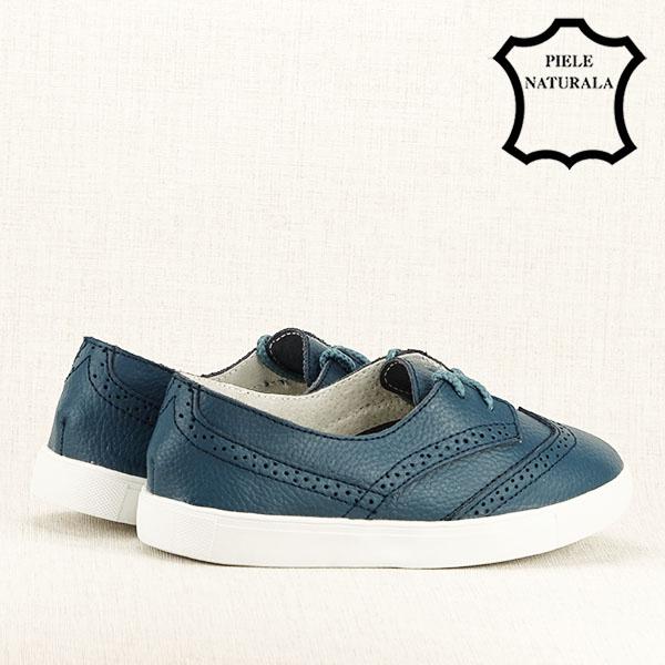 Pantofi oxford albastri Carla [5]
