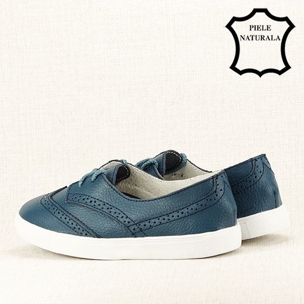 Pantofi oxford albastri Carla [4]