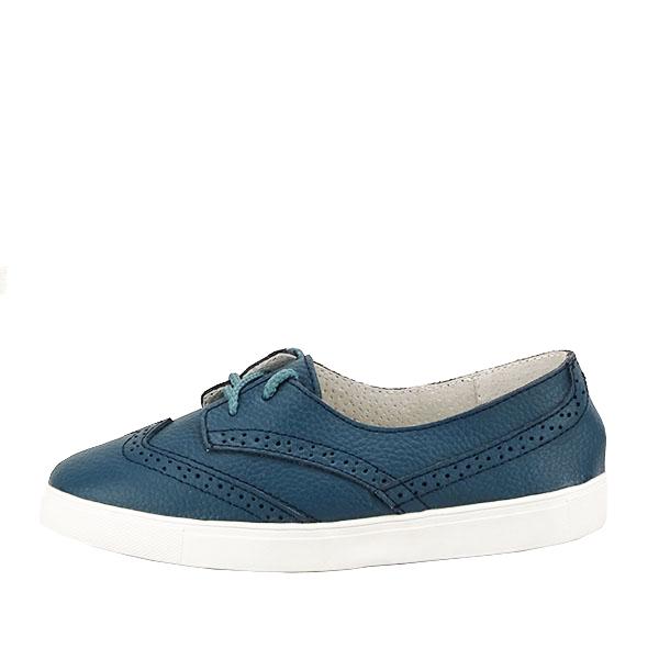 Pantofi oxford albastri Carla [0]