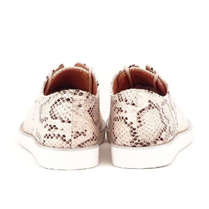 Pantofi oxford bej Patricia [5]
