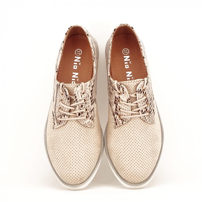 Pantofi oxford bej Patricia [2]
