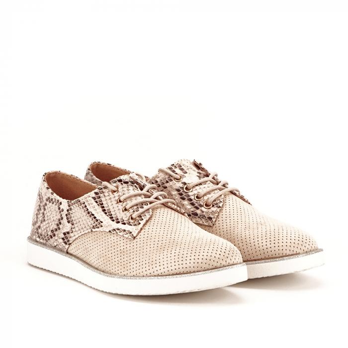 Pantofi oxford bej Patricia [3]