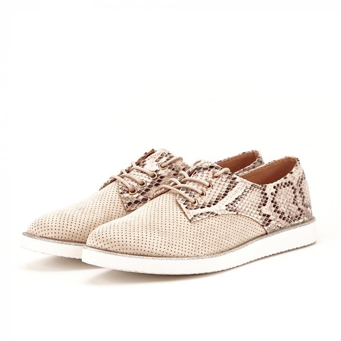 Pantofi oxford bej Patricia [1]