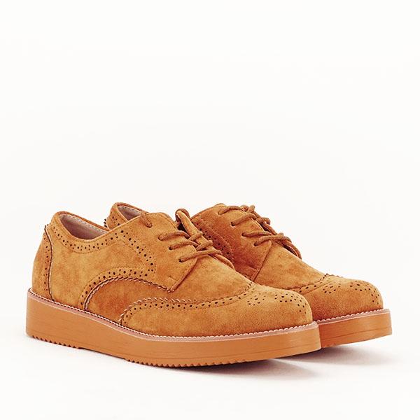 Pantofi oxford camel Dalia [3]