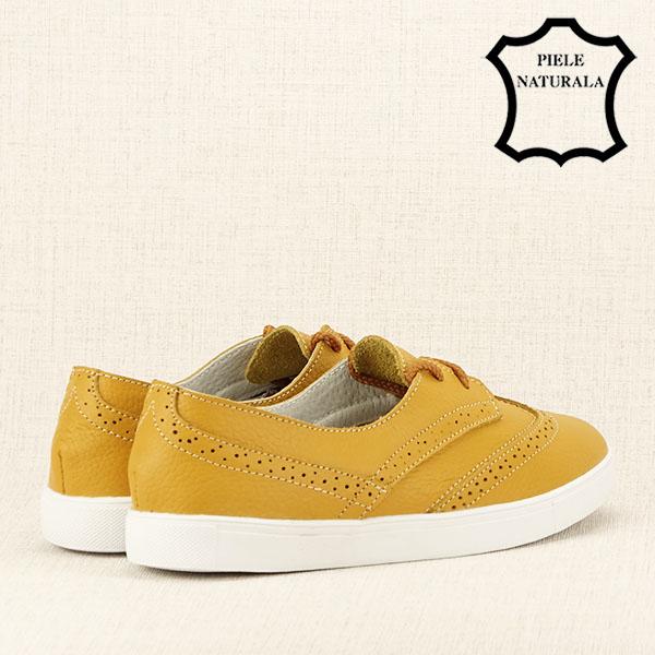 Pantofi oxford galbeni Carla 5