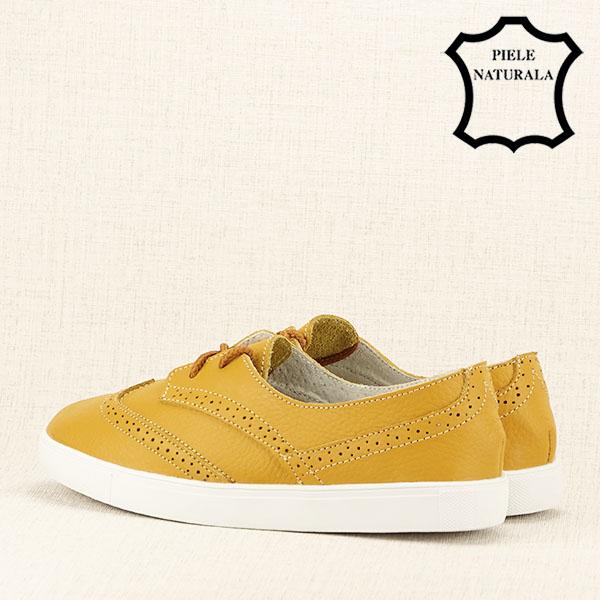 Pantofi oxford galbeni Carla 4