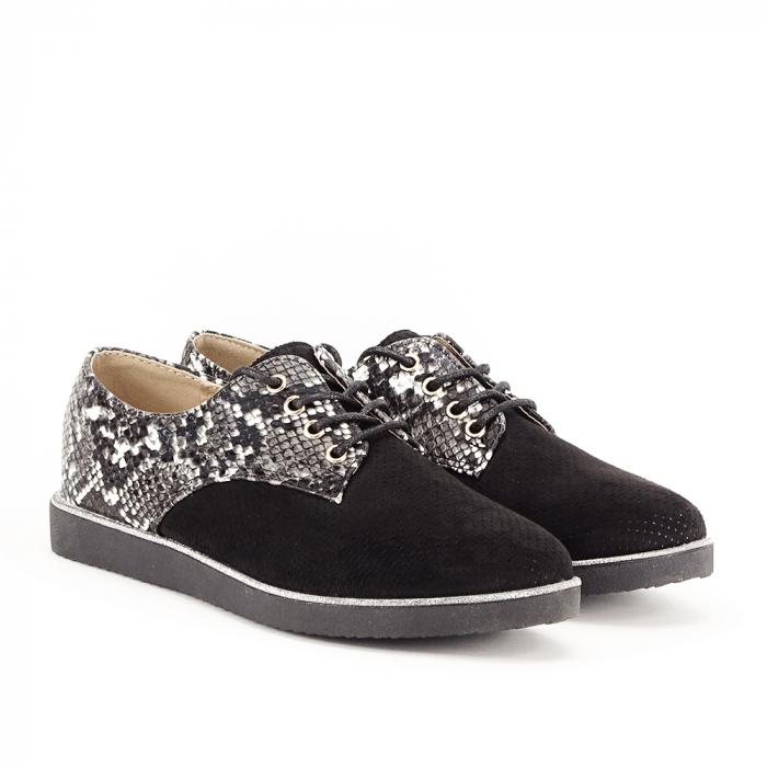 Pantofi oxford negri Patricia [2]
