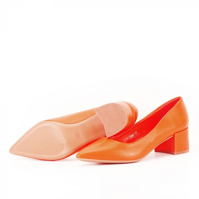 Pantofi portocalii Anita 4