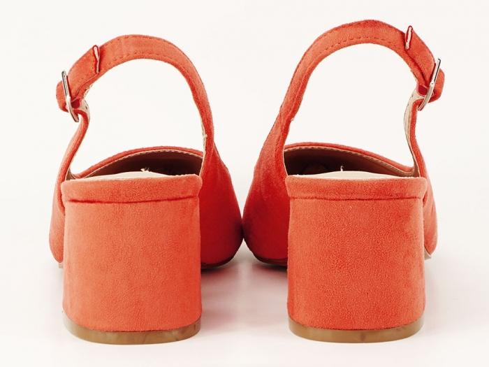 Pantofi portocalii decupati la spate Valeria 2 4