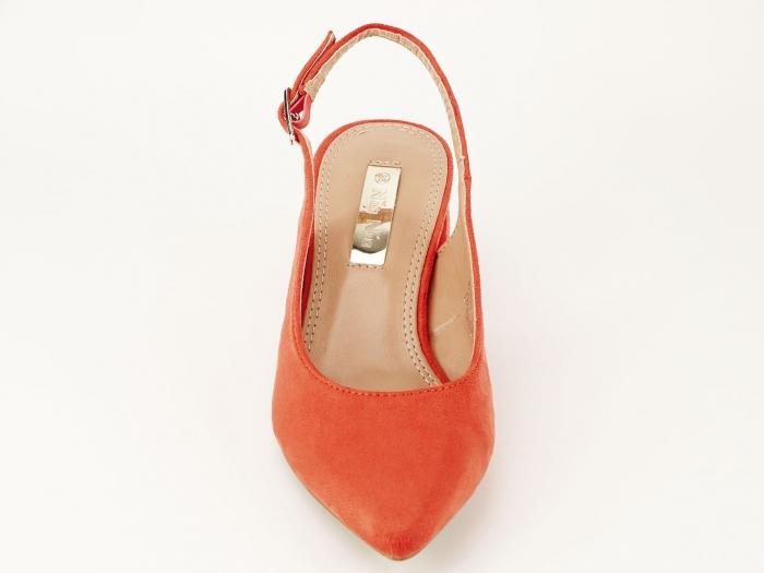 Pantofi portocalii decupati la spate Valeria 2 6