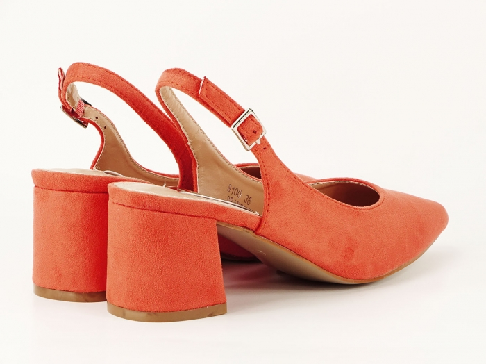Pantofi portocalii decupati la spate Valeria 2 3