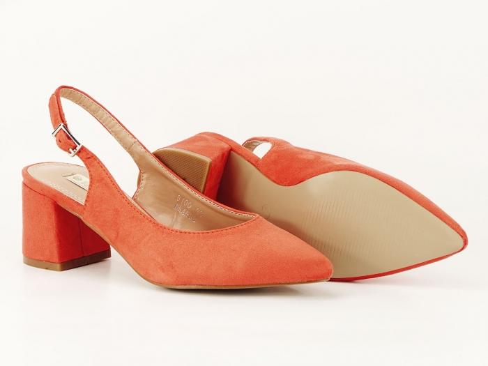 Pantofi portocalii decupati la spate Valeria 2 2