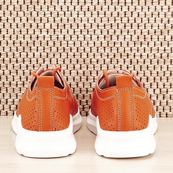 Pantofi piele naturala portocalii Angela [5]