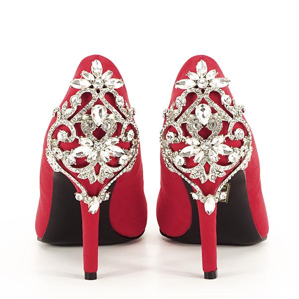 Pantofi rosii cu brosa Minodora [5]