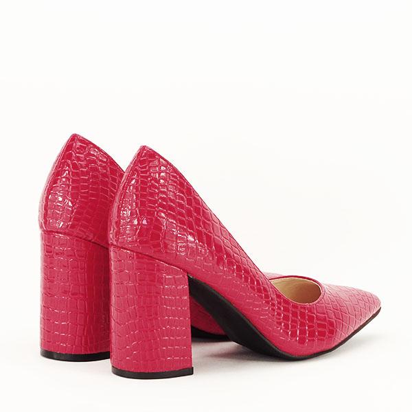 Pantofi rosii cu imprimeu Bianca 5
