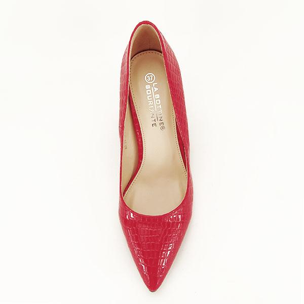 Pantofi rosii cu imprimeu Bianca 1