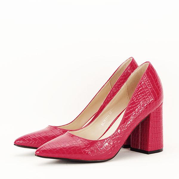 Pantofi rosii cu imprimeu Bianca 2