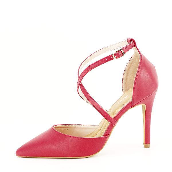 Pantofi rosii cu toc cui Zoe [1]